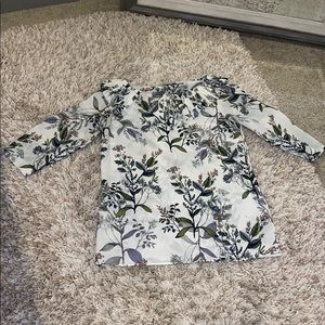 Floral blouse from Banana Republic